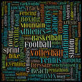 Various sport info-text Royalty Free Stock Photography