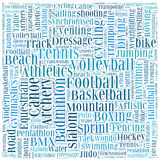 Various sport info-text Stock Image