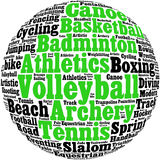 Various sport info-text Stock Photos