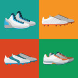 Various sport shoes icons set. Stock Photo
