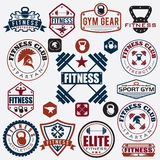 Various sports and fitness icons and design elements Stock Photo