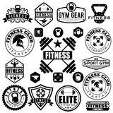various sports and fitness icons and design elements Stock Images