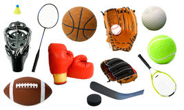Various Sports Items Stock Images