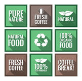 Various square labels Royalty Free Stock Image