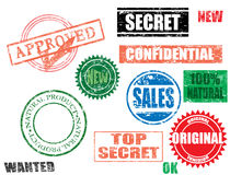 Various stamps Royalty Free Stock Photography