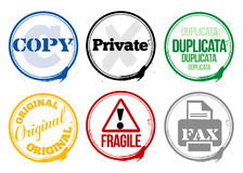 Stamps office work Royalty Free Stock Photography