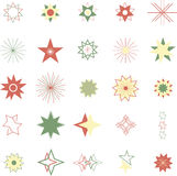 Various stars icons. On white background Stock Illustration