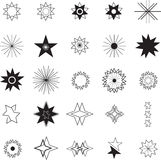 Various stars icons. On white background Vector Illustration