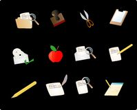 Various Stationery Objects Stock Photo