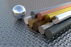 Various steel elements Stock Image