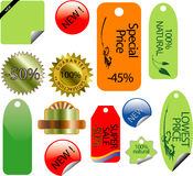 Various  stickers. Pack of  illustrations of various stickers Royalty Free Stock Photos