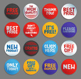 Various Stickers, Labels And Buttons Royalty Free Stock Photography