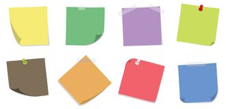 Various Sticky Notes Stock Images