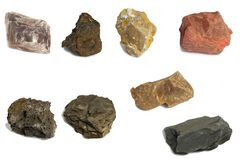 Various stone for industry stock images