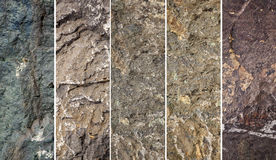 Various stone structures for overview Royalty Free Stock Photos