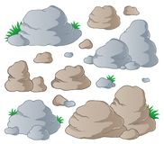 Various stones collection 1 vector illustration