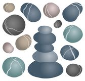 Various stones collection 2. Vector illustration Stock Image