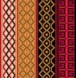 Various strips. Motifs in natural color Vector Illustration
