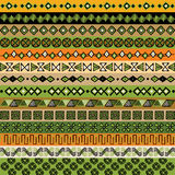 Various strips motifs colored Stock Image