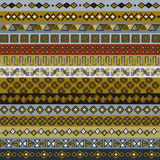 Various strips motifs for design. Various strips motifs colored in Earth tone Royalty Free Illustration