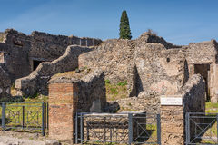 Various Structures Remain in Pompeii Stock Photos