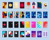 Various style design cover template set Royalty Free Stock Images