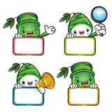 Various styles of Bamboo and Bamboo shoot Mascot Sets. Nature Ch Stock Photos