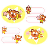 Various styles of Bear Mascot Sets. Animal Character Design Seri Royalty Free Stock Photography
