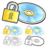 Various styles of Compact Disk Sets. Household Items Vector Icon Royalty Free Stock Image