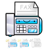 Various styles of fax machine Mascot Sets. Appliances Items Char Stock Photography
