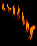 Flames in black background Royalty Free Stock Images