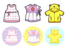 Various styles of Jumper and Dress, Sets. Baby and Children Good Royalty Free Stock Images