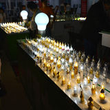Various styles  LED Bulb lighting, energy saving and green  light source,In  lighting exhibition Stock Photography