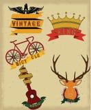 Vintage logos vector royalty free illustration