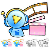 Various styles of Play Man Character Sets. Household Items Vecto Stock Image