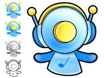 Various styles of Play Man Character Sets. Household Items Vecto Royalty Free Stock Images
