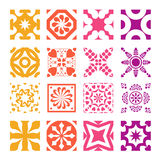 Various styles of Round grid Sets. Original Pattern and Symbol S Royalty Free Stock Images