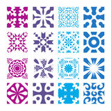 Various styles of Round grid Sets. Original Pattern and Symbol S Stock Image