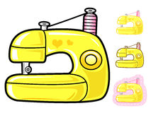 Various styles of Sewing machine Sets. Appliances Items Vector I Royalty Free Stock Photo