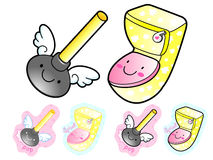 Various styles of Toilet article Sets. Household Items Vector Ic Royalty Free Stock Photo
