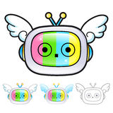 Various styles of TV Mascot Sets. Appliances Items Character Des Stock Image