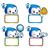 Various styles of Water sprite Mascot Sets. Nature Character Des Royalty Free Stock Images