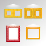 Various Stylish Framework Isolated On Background Royalty Free Stock Photography