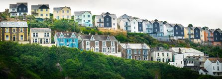 Various stylish houses in south of England royalty free stock image