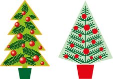Various form of Christmas firs. Various stylized form of Christmas firs Royalty Free Stock Image
