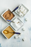 Various of sugar Royalty Free Stock Images