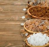 Various sugar Royalty Free Stock Image