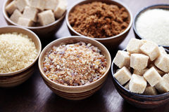 Various sugar Royalty Free Stock Photos