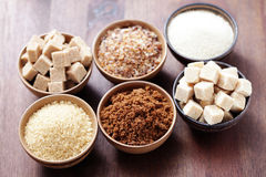 Various sugar Royalty Free Stock Photography