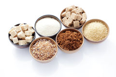 Various sugar Royalty Free Stock Photo